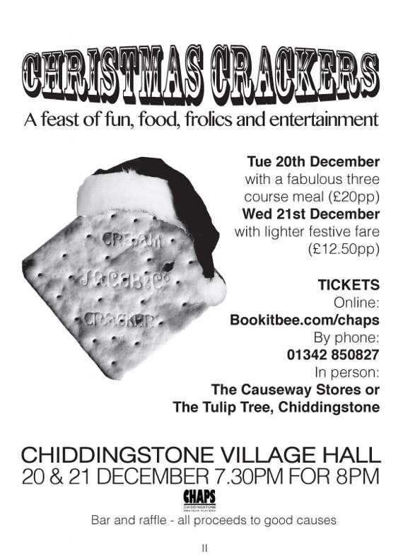 Enjoy a cracker of a feast of food and entertainment in Chiddingstone
